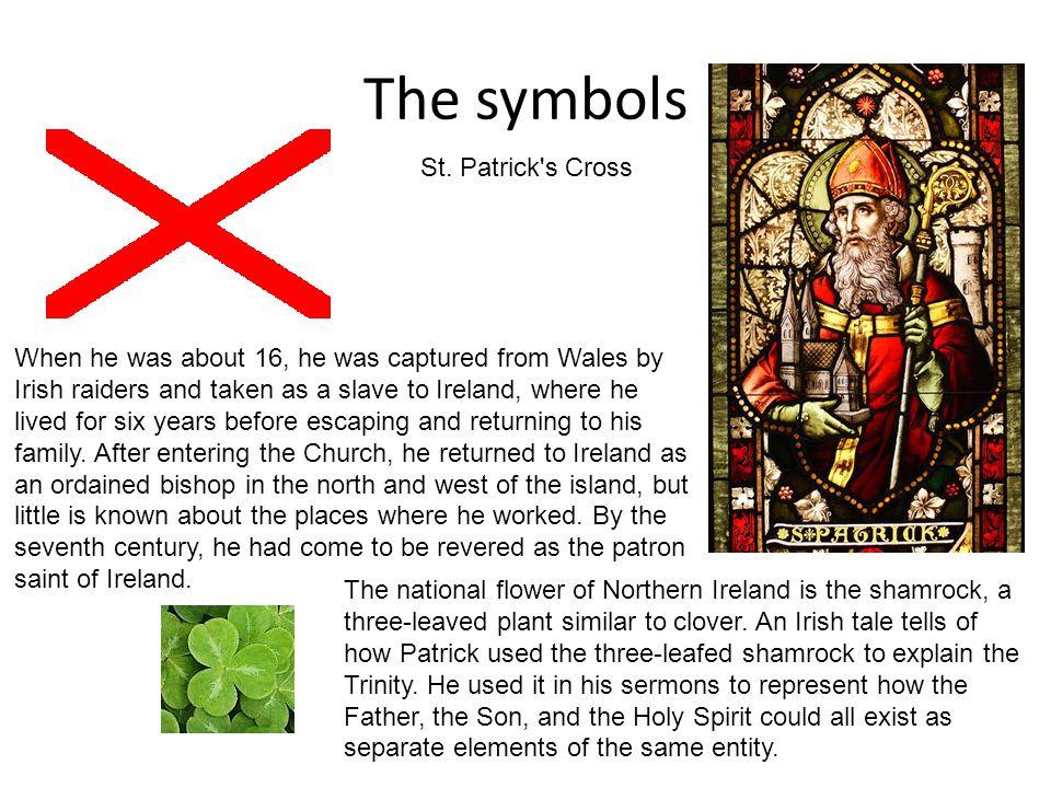 The symbols St. Patrick s Cross
