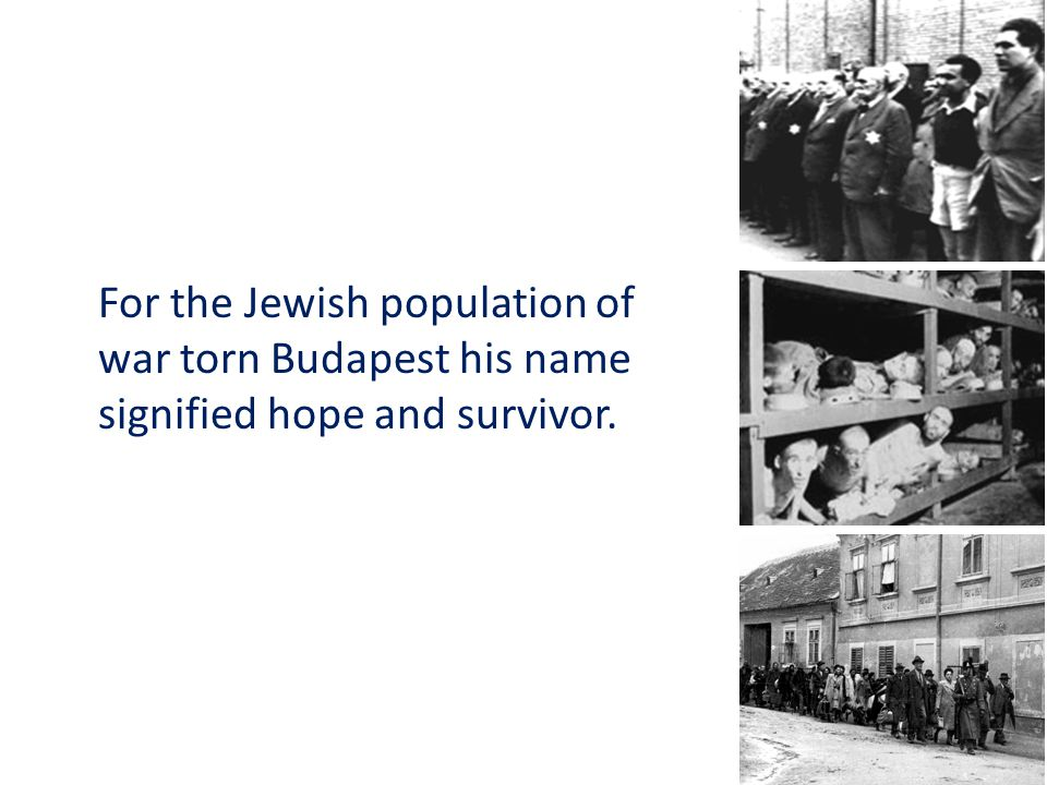 For the Jewish population of war torn Budapest his name signified hope and survivor.