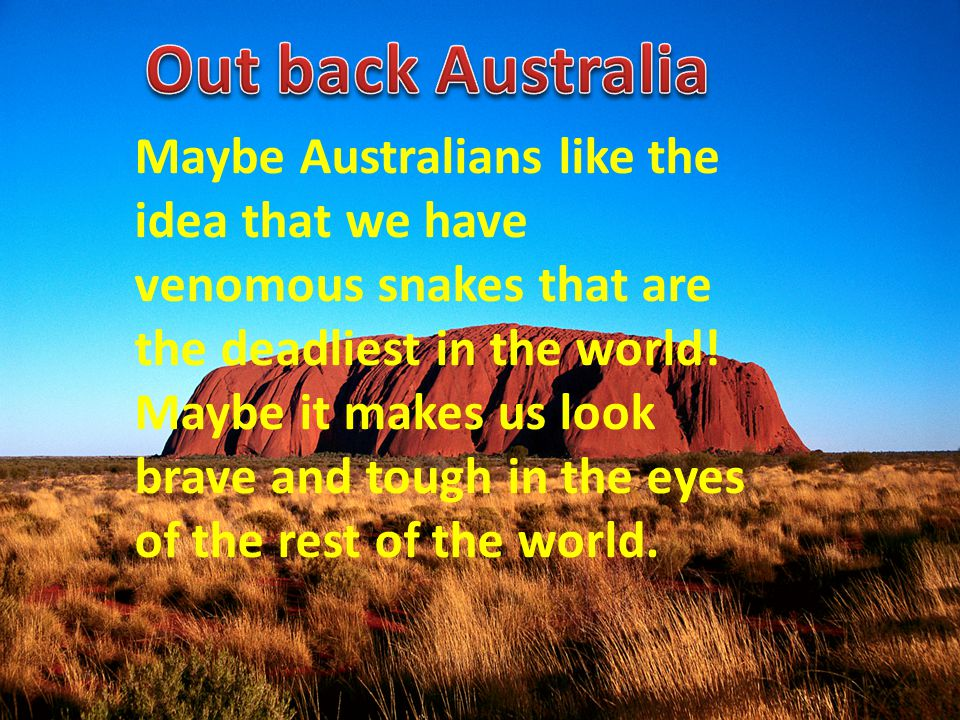 Out back Australia