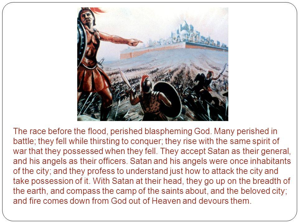 The race before the flood, perished blaspheming God