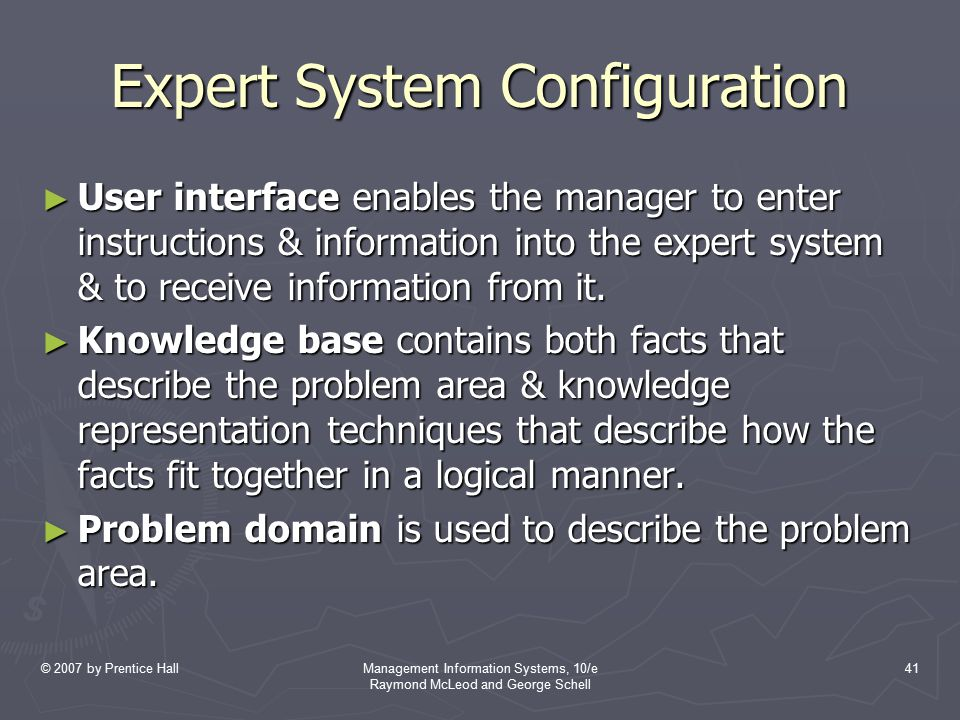 Expert System Configuration