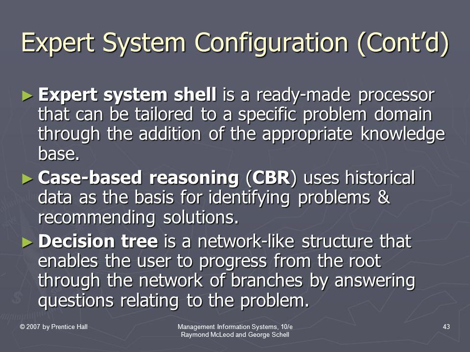 Expert System Configuration (Cont'd)