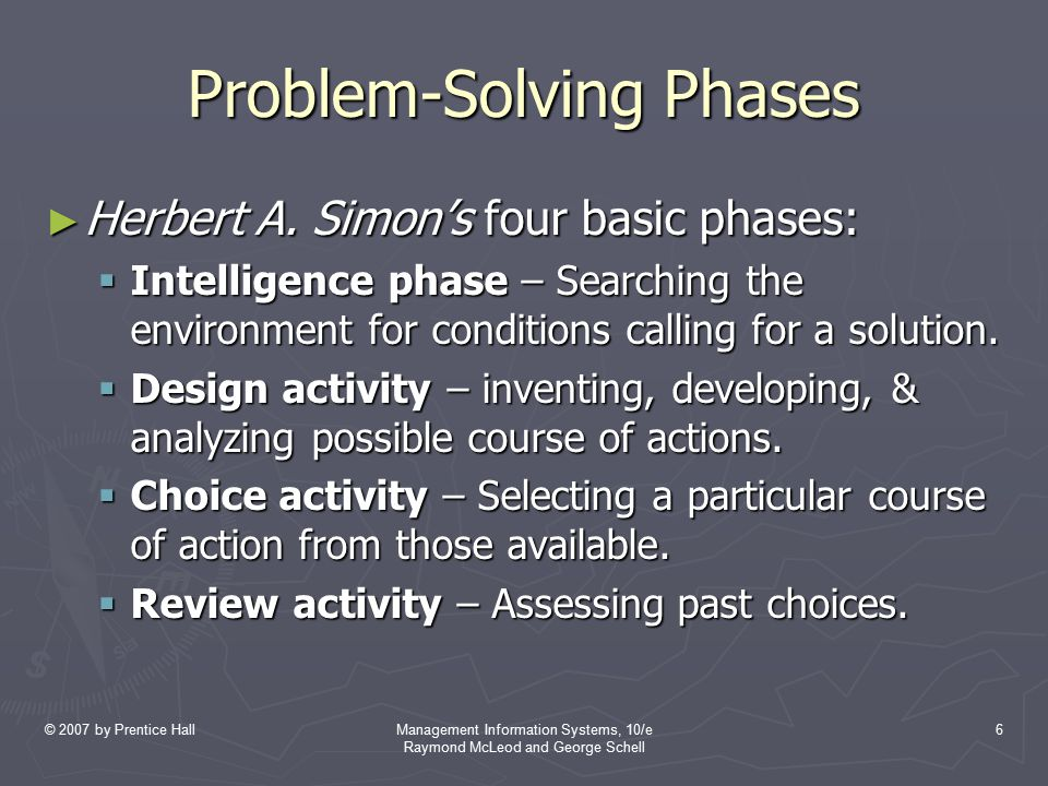 Problem-Solving Phases