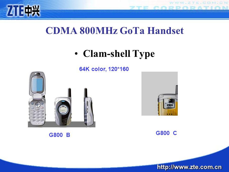 CDMA 800MHz GoTa Handset Clam-shell Type