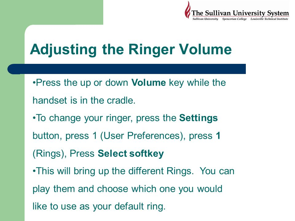 Adjusting the Ringer Volume
