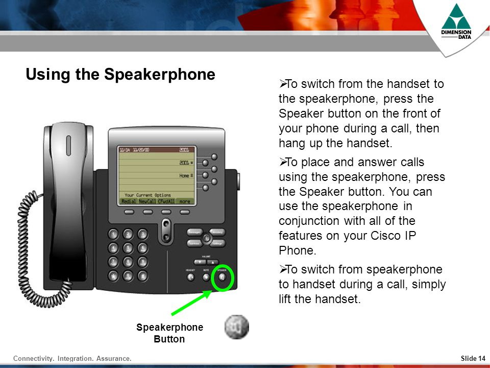 Using the Speakerphone