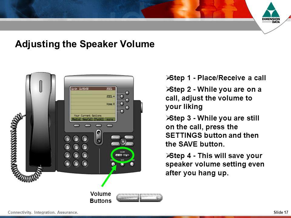 Adjusting the Speaker Volume