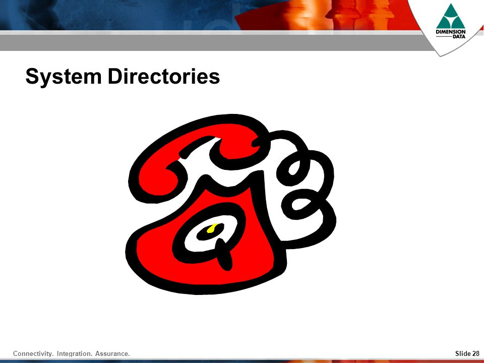 System Directories 17 Aug 2001