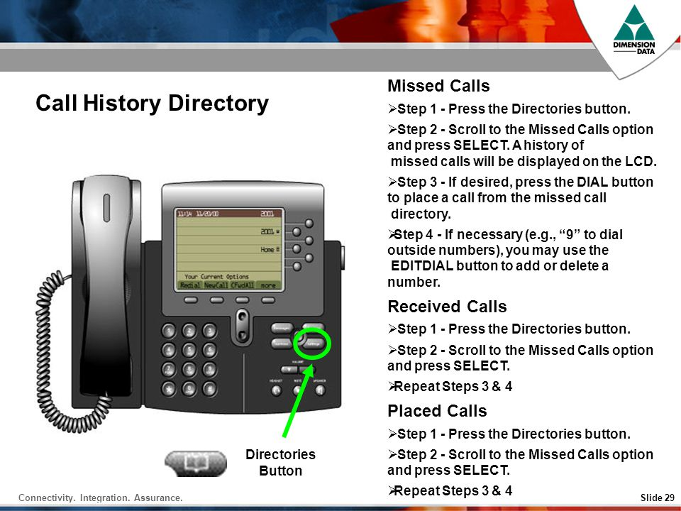 Call History Directory