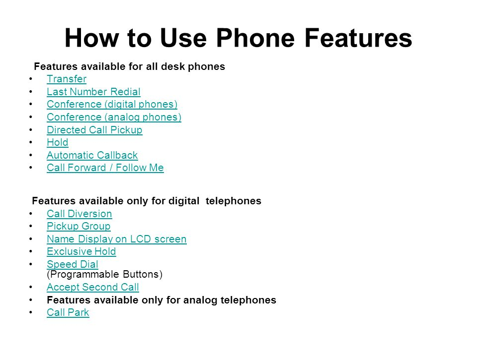 How to Use Phone Features