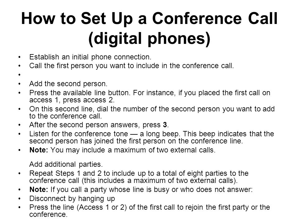 How to Set Up a Conference Call (digital phones)