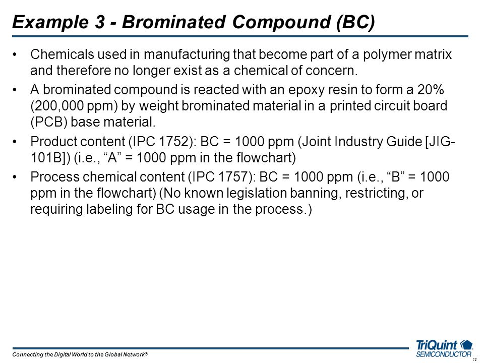 Example 3 - Brominated Compound (BC)