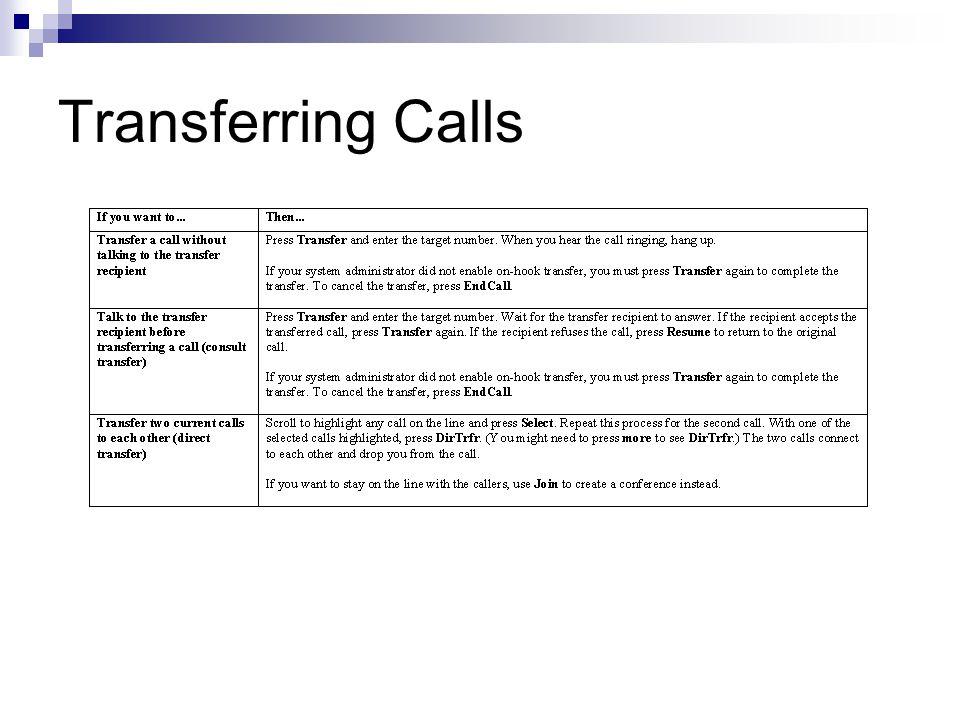 Transferring Calls