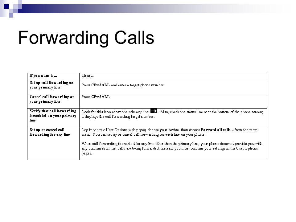Forwarding Calls