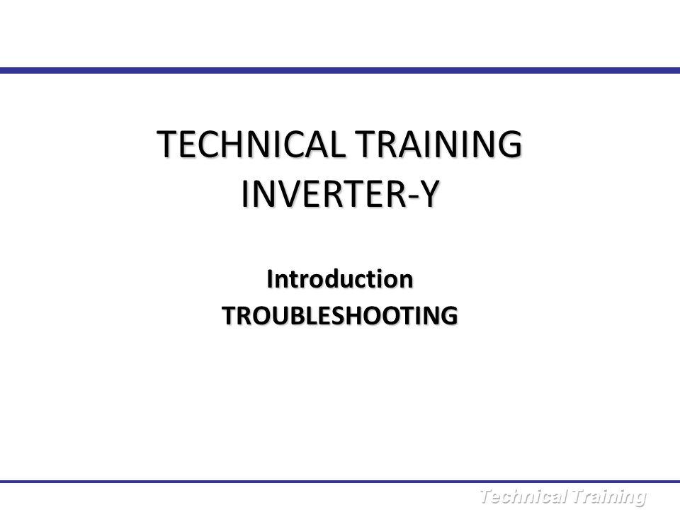 TECHNICAL TRAINING INVERTER-Y