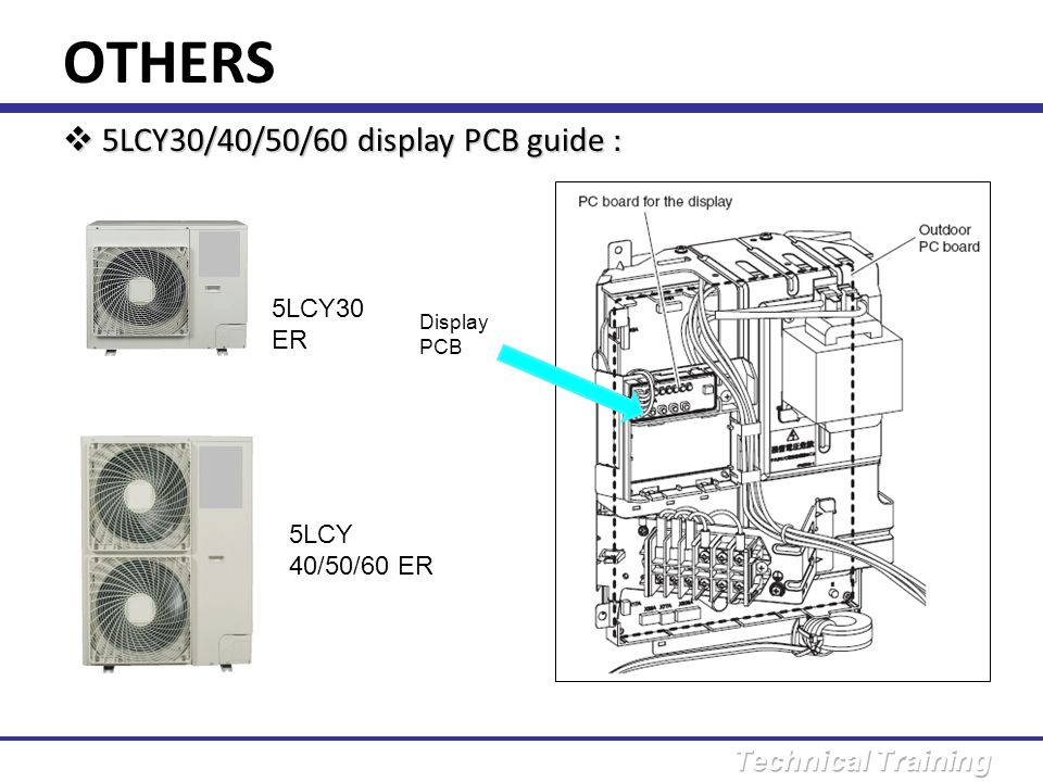 OTHERS 5LCY30/40/50/60 display PCB guide : 5LCY30 ER 5LCY 40/50/60 ER
