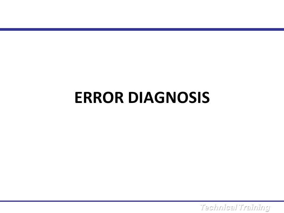 ERROR DIAGNOSIS