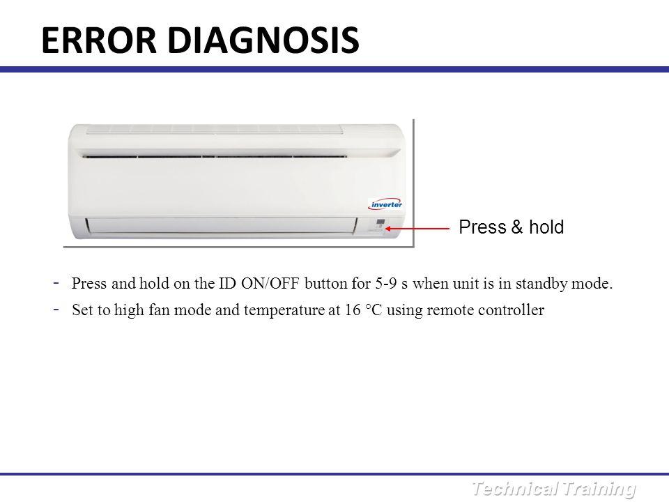 ERROR DIAGNOSIS Press & hold