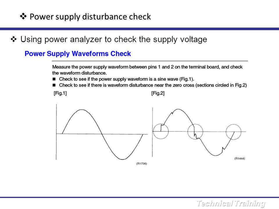 Power supply disturbance check