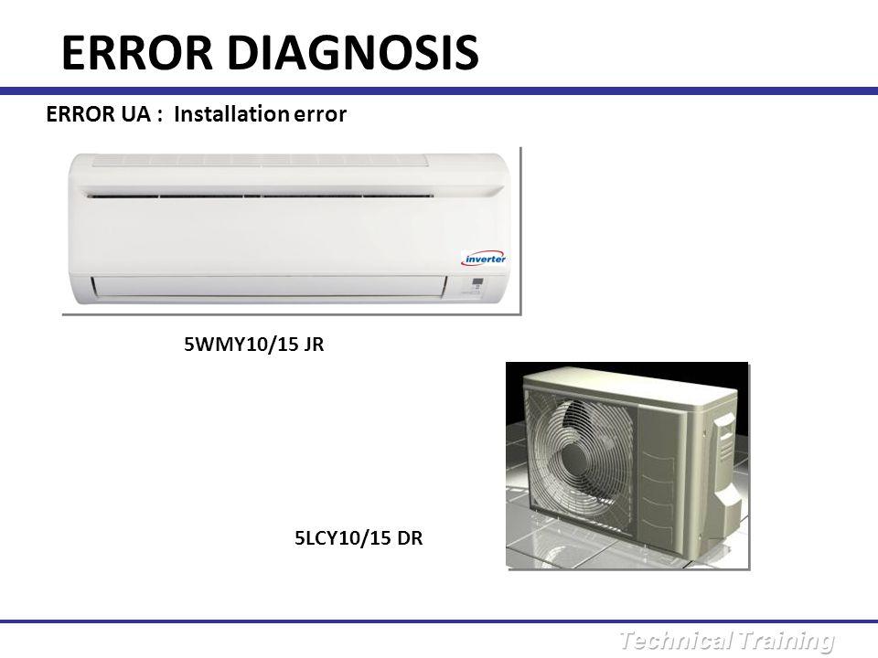 ERROR DIAGNOSIS ERROR UA : Installation error 5WMY10/15 JR
