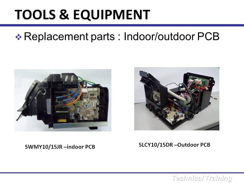 TOOLS & EQUIPMENT Replacement parts : Indoor/outdoor PCB