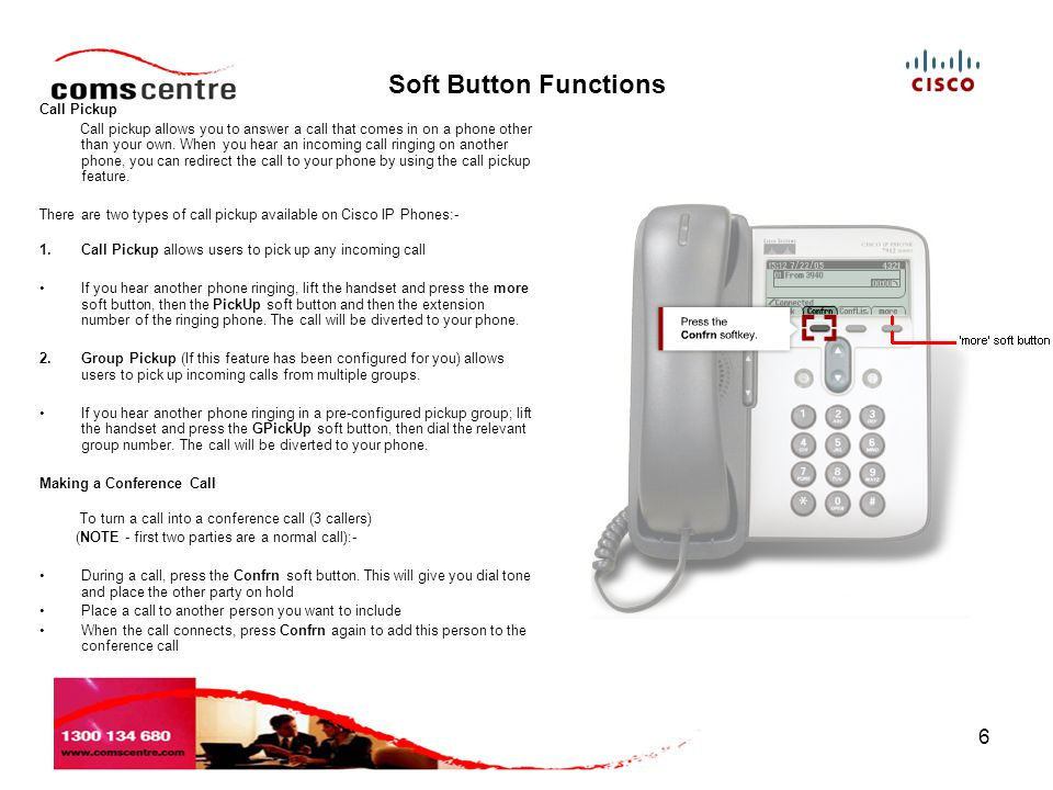 Soft Button Functions Call Pickup