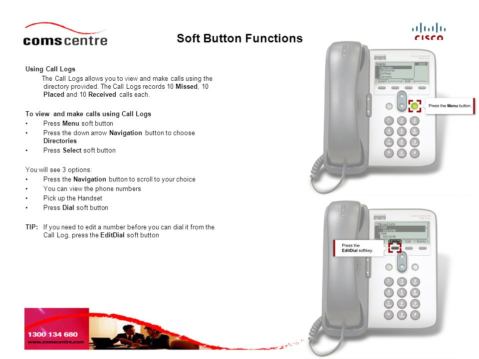 Soft Button Functions Using Call Logs