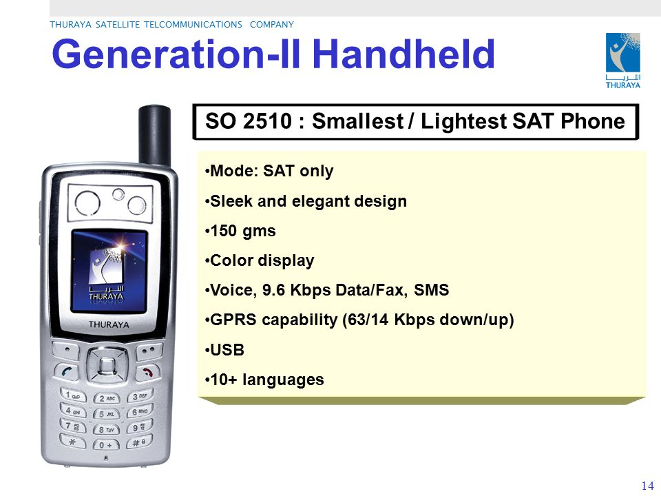 SO 2510 : Smallest / Lightest SAT Phone