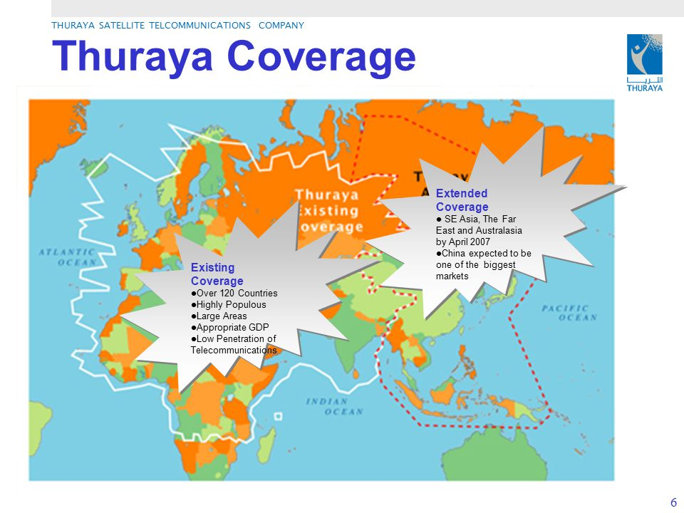 Thuraya Coverage Extended Coverage Existing Coverage
