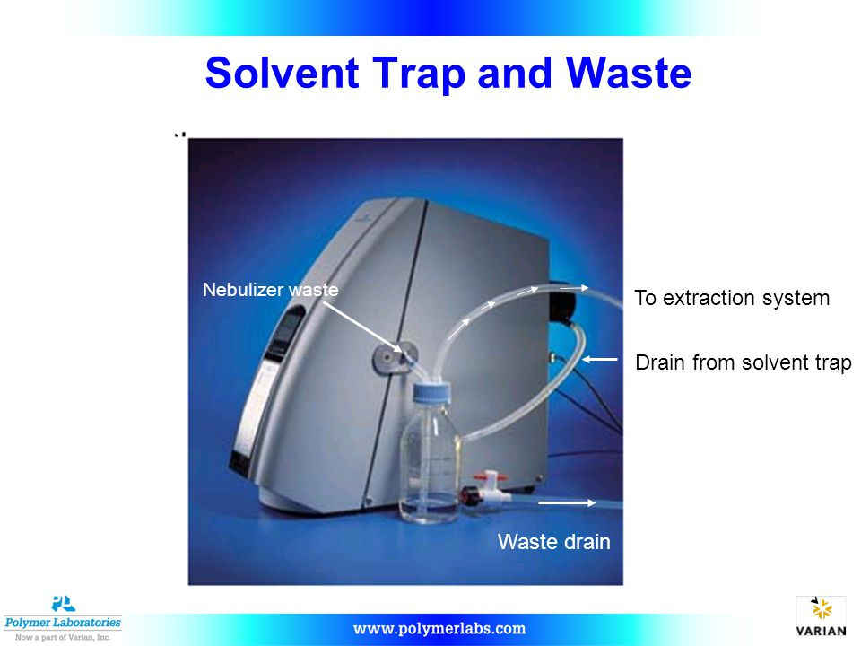 Drain from solvent trap