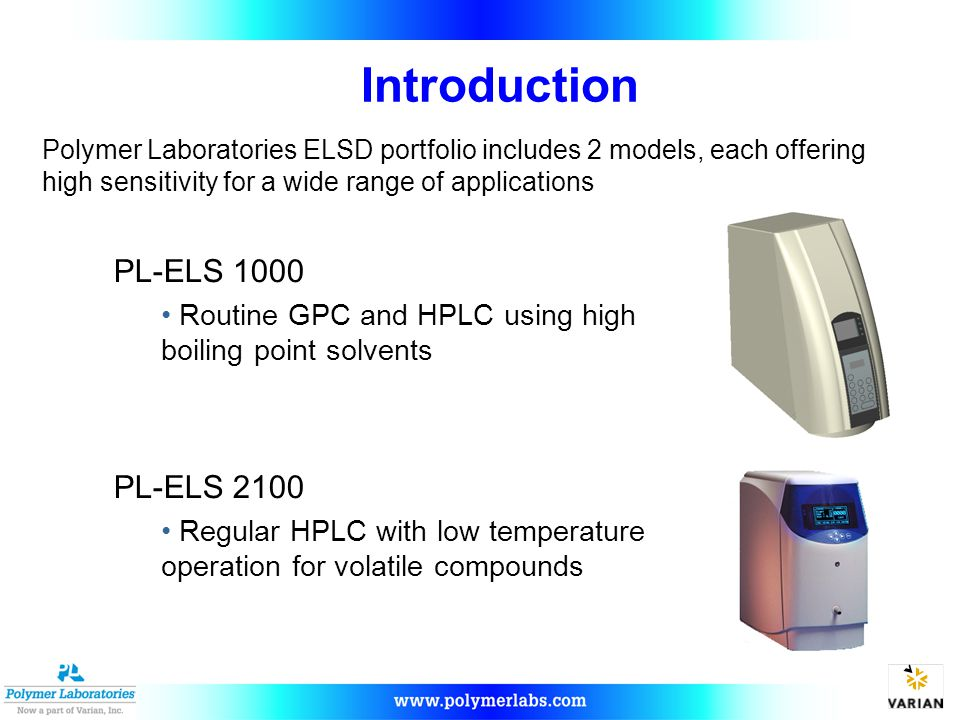 Introduction PL-ELS 1000 PL-ELS 2100
