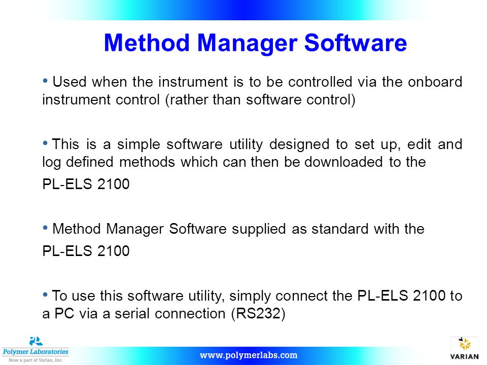 Method Manager Software