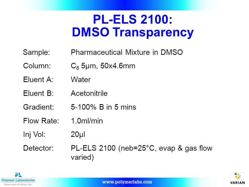 PL-ELS 2100: DMSO Transparency