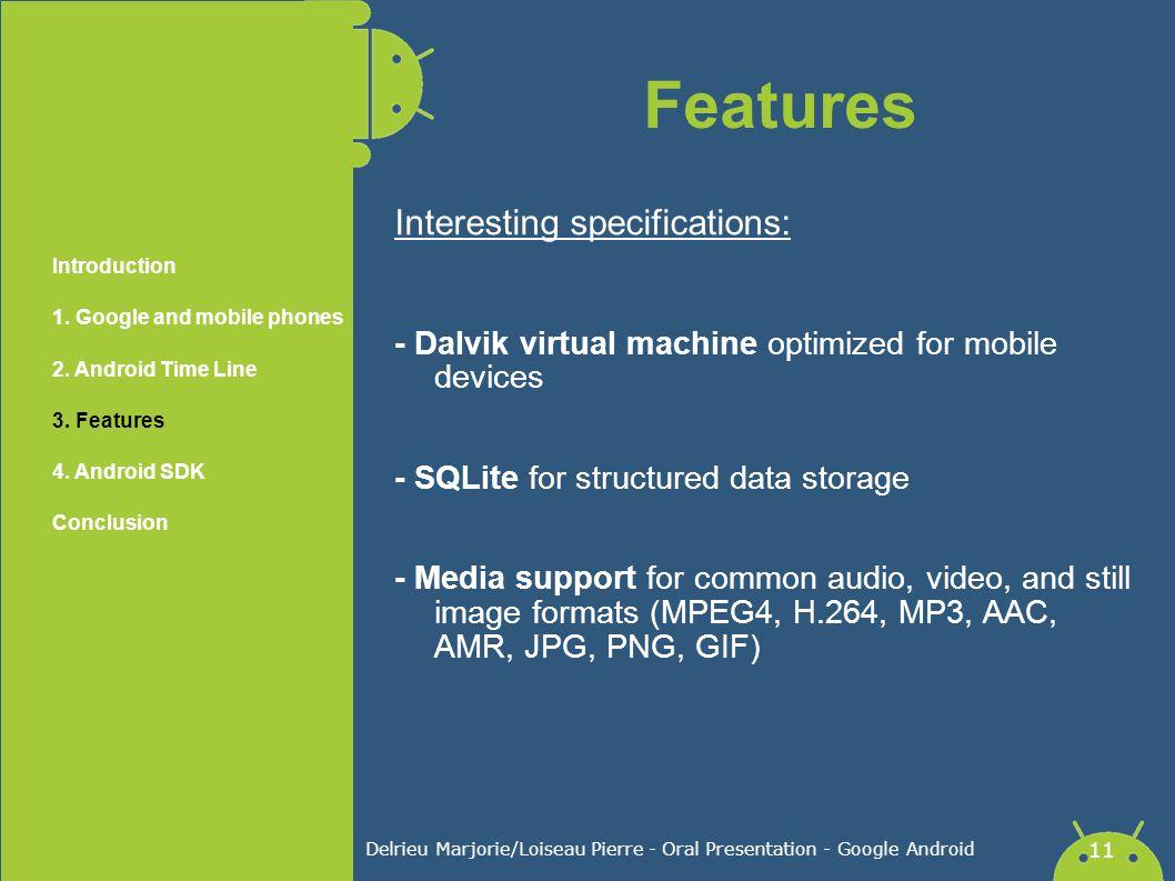 Delrieu Marjorie/Loiseau Pierre - Oral Presentation - Google Android