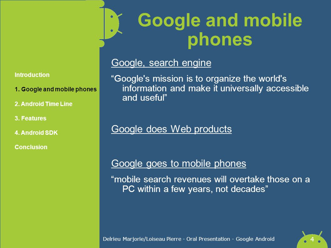 Google and mobile phones