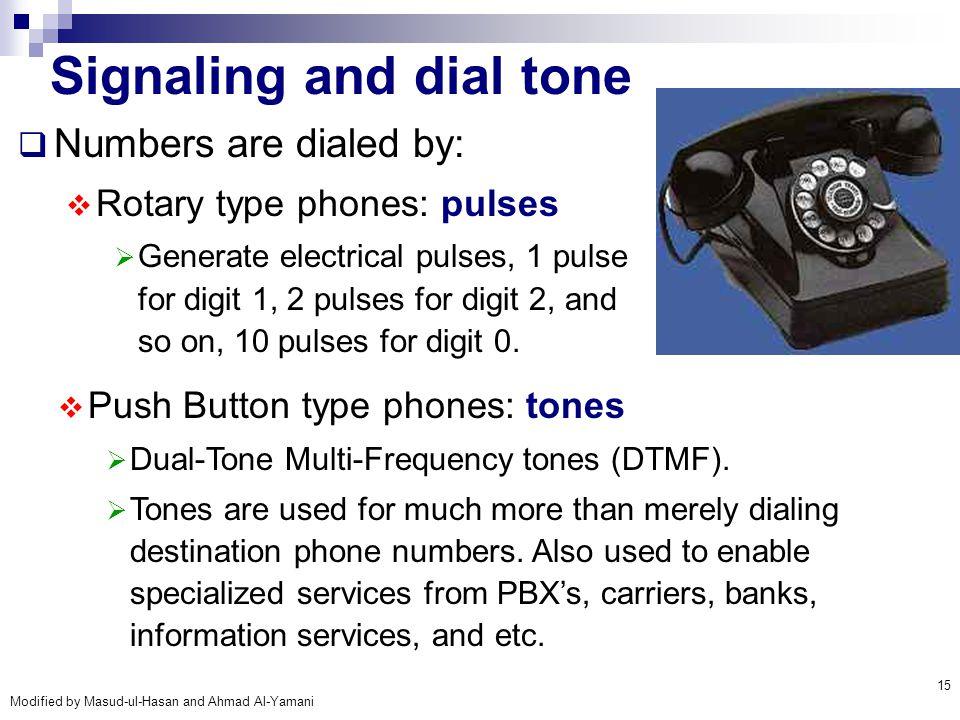 Signaling and dial tone