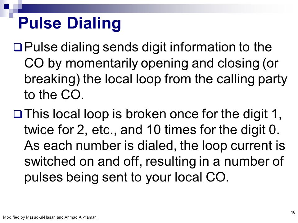 Pulse Dialing