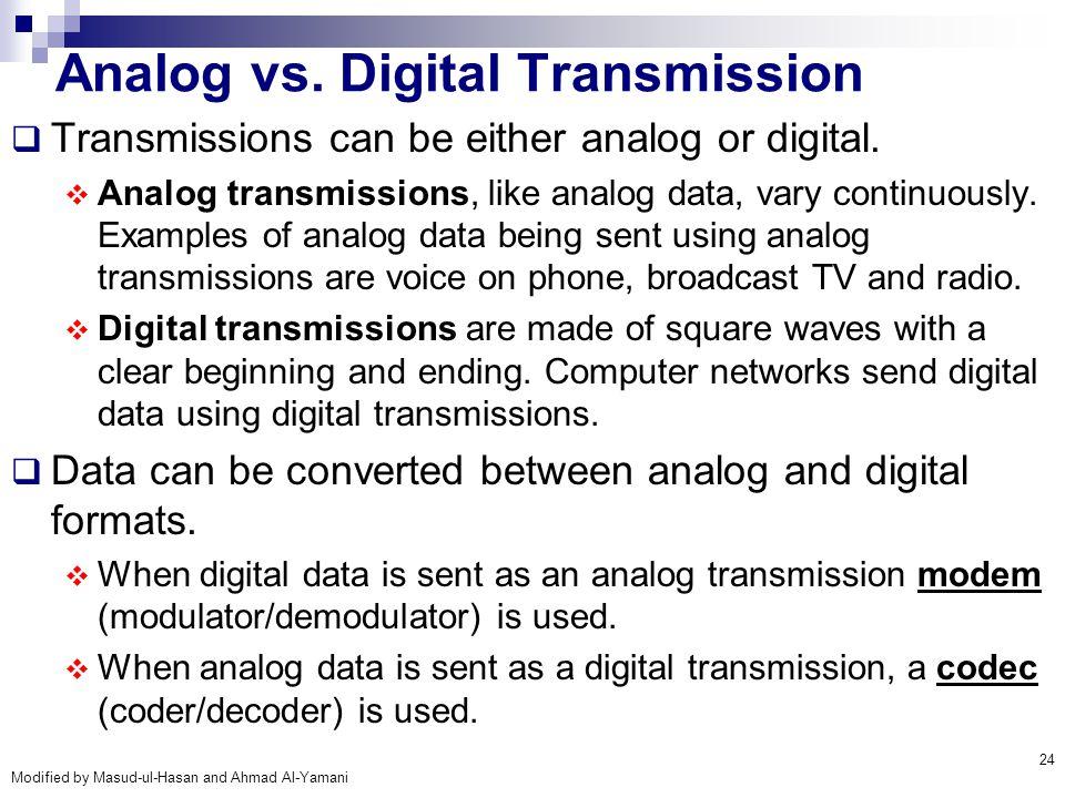 Analog vs. Digital Transmission
