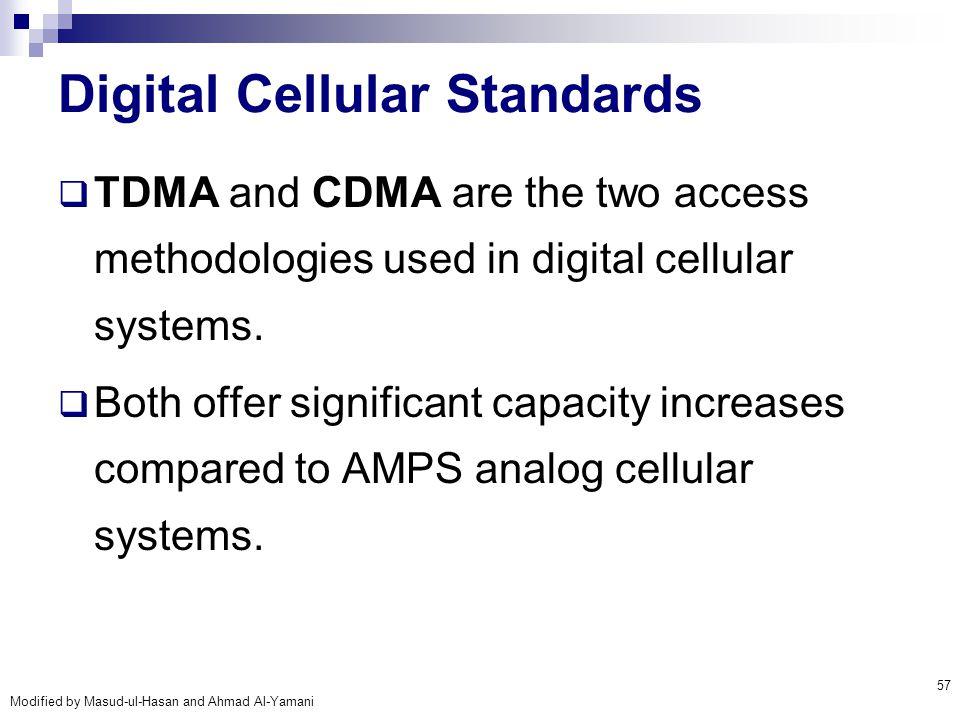 Digital Cellular Standards