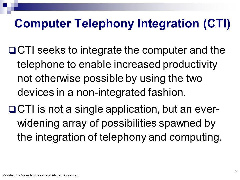 Computer Telephony Integration (CTI)