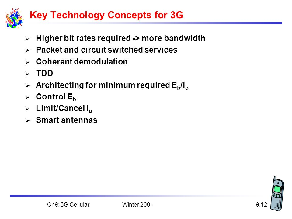 Key Technology Concepts for 3G