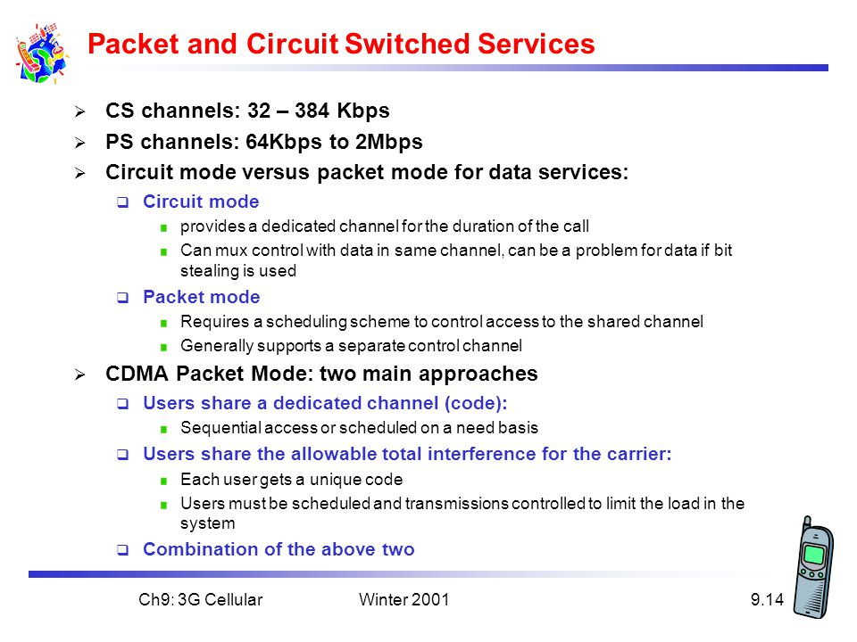 Packet and Circuit Switched Services