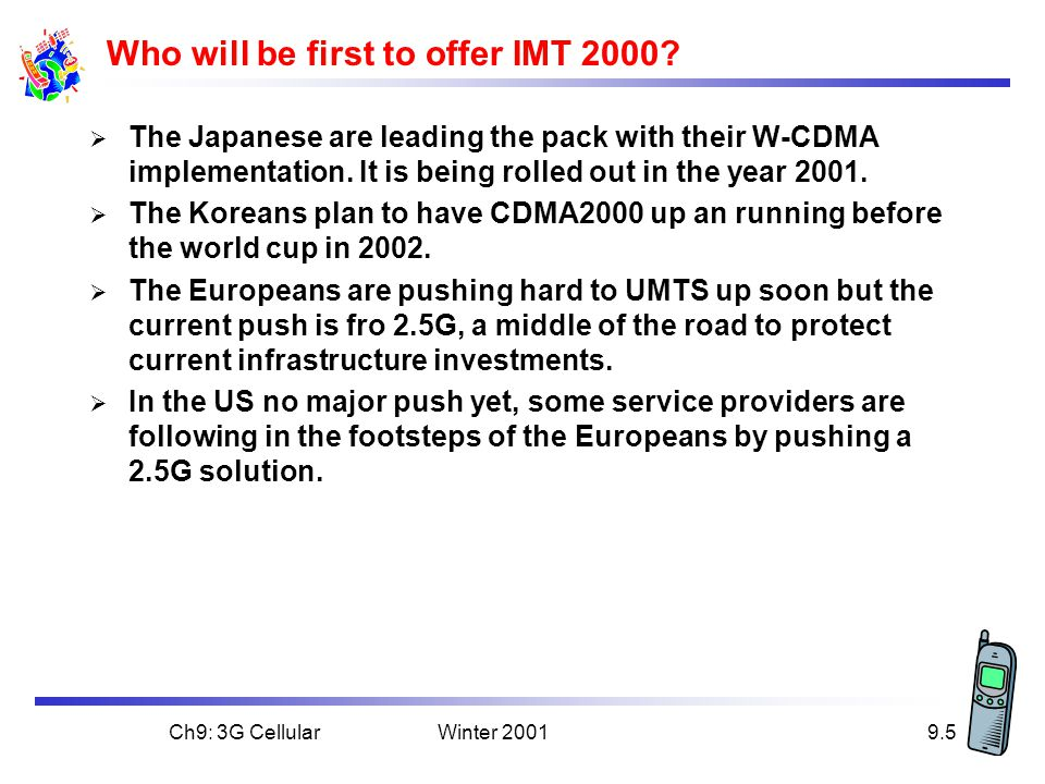 Who will be first to offer IMT 2000
