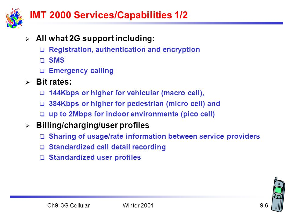 IMT 2000 Services/Capabilities 1/2