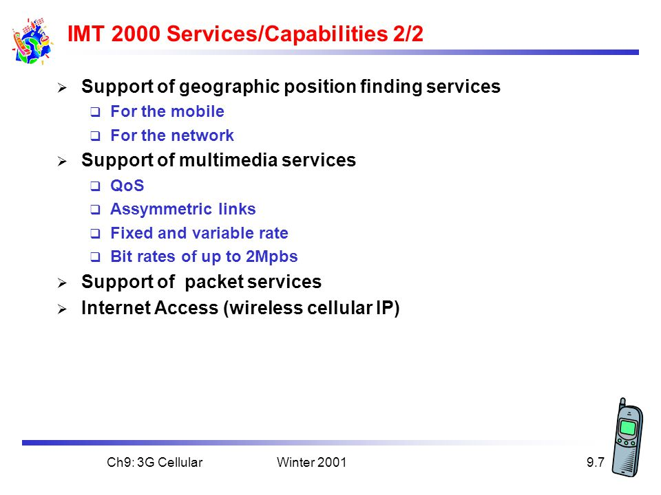 IMT 2000 Services/Capabilities 2/2