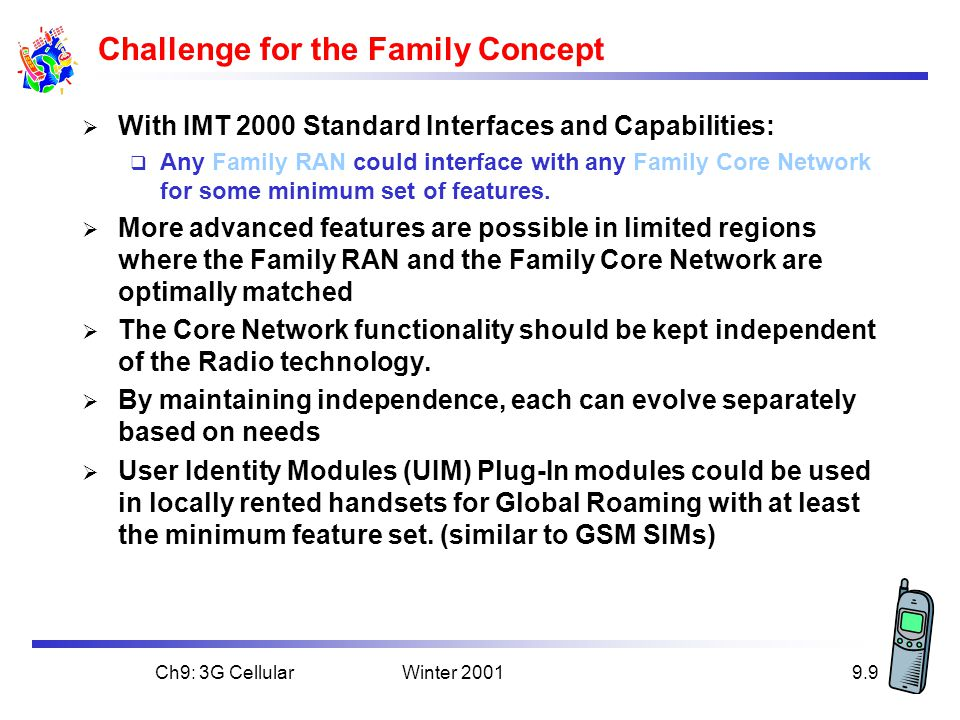 Challenge for the Family Concept