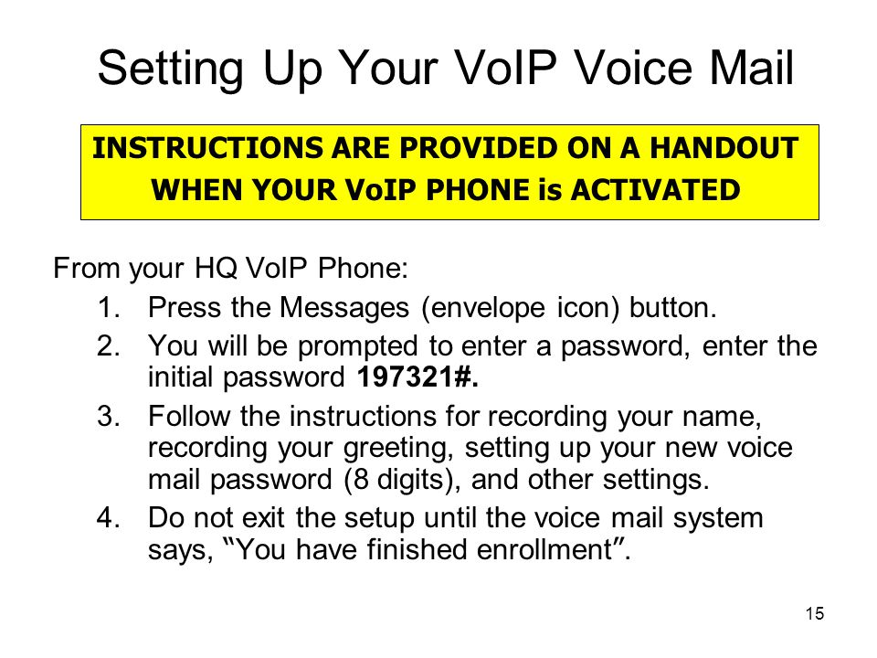 Setting Up Your VoIP Voice Mail