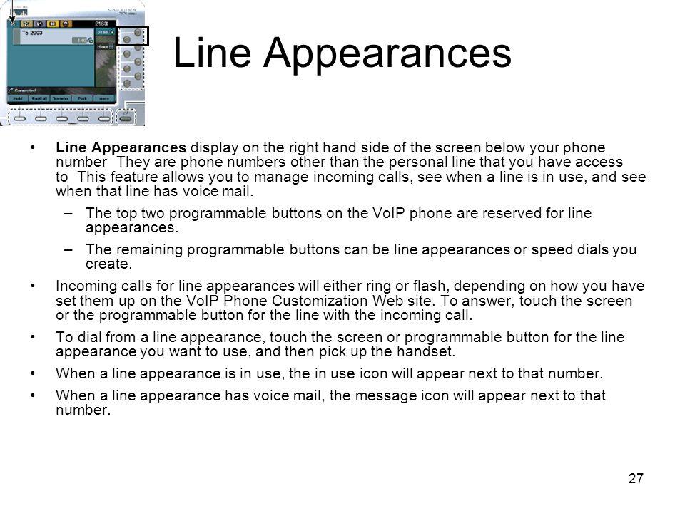 Line Appearances