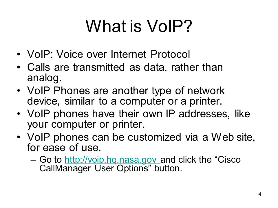 What is VoIP VoIP: Voice over Internet Protocol