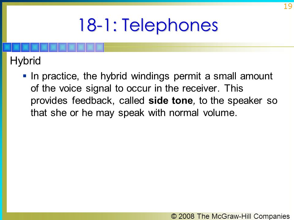 18-1: Telephones Hybrid.